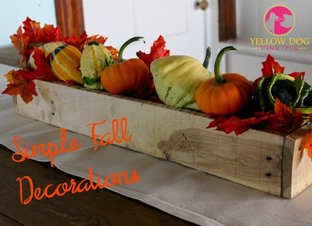 Get your house in tip-top FALL shape! Visit Yellow Dog Pink Pig to get the perfect ideas for making your house feel Fall!